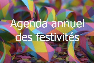 Agenda des festivités